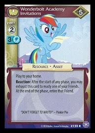 My Little Pony Wonderbolt Academy Invitations The Crystal Games CCG Card