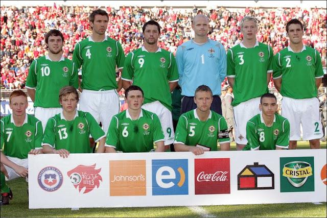 Formación de Irlanda del Norte ante Chile, amistoso disputado el 30 de mayo de 2010