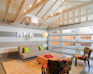 An image of beautiful garage converted into a living room