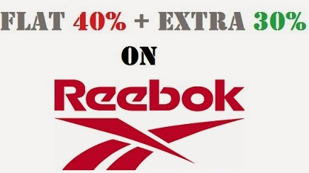 Flat 40% + Extra 30% Off on Reebok Clothing , Footwear & Accessories