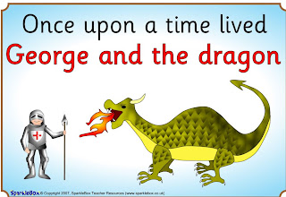 st george and the dragon story cards