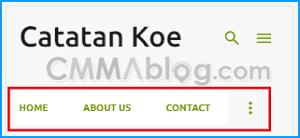 contoh header blog review site adsense