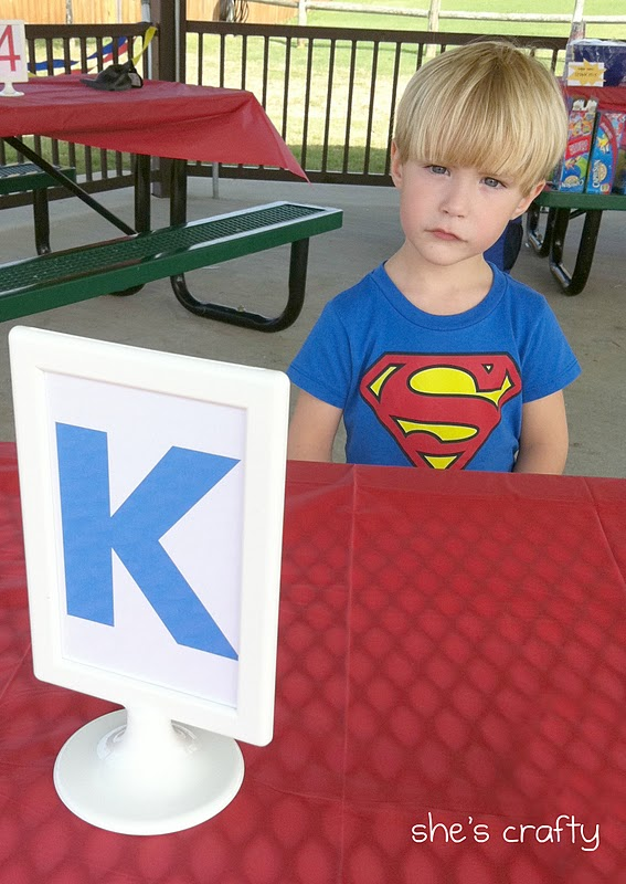 Super Hero Birthday party at the park for little boys