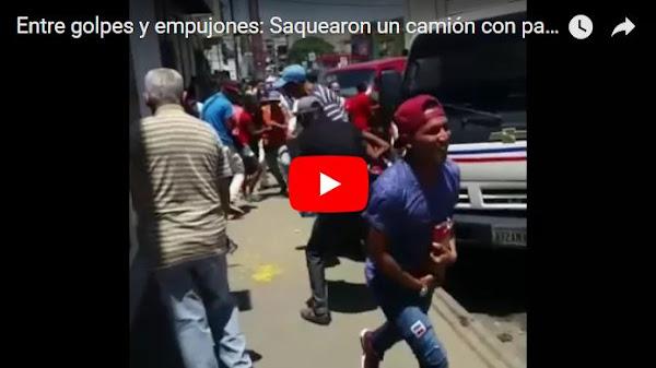 Saquearon otro camión de pasta en San Juan de los Morros