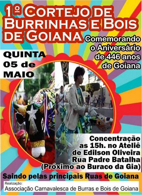 Associação Carnavalesca de Goiana pomove o 1º Cortejo de Burrinhas e Bois de Goiana