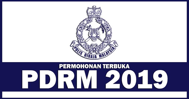 Permohonan Terbuka Jawatan di Polis DiRaja Malaysia PDRM - Terbuka Lelaki & Wanita
