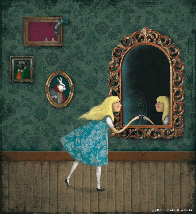 Silvia crocicchi blog disegni e disogni di un 39 illustratrice qualunque attraverso lo specchio - Oltre lo specchio ...