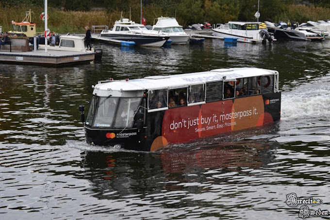 Jedyny amfibiobus w Skandynawii