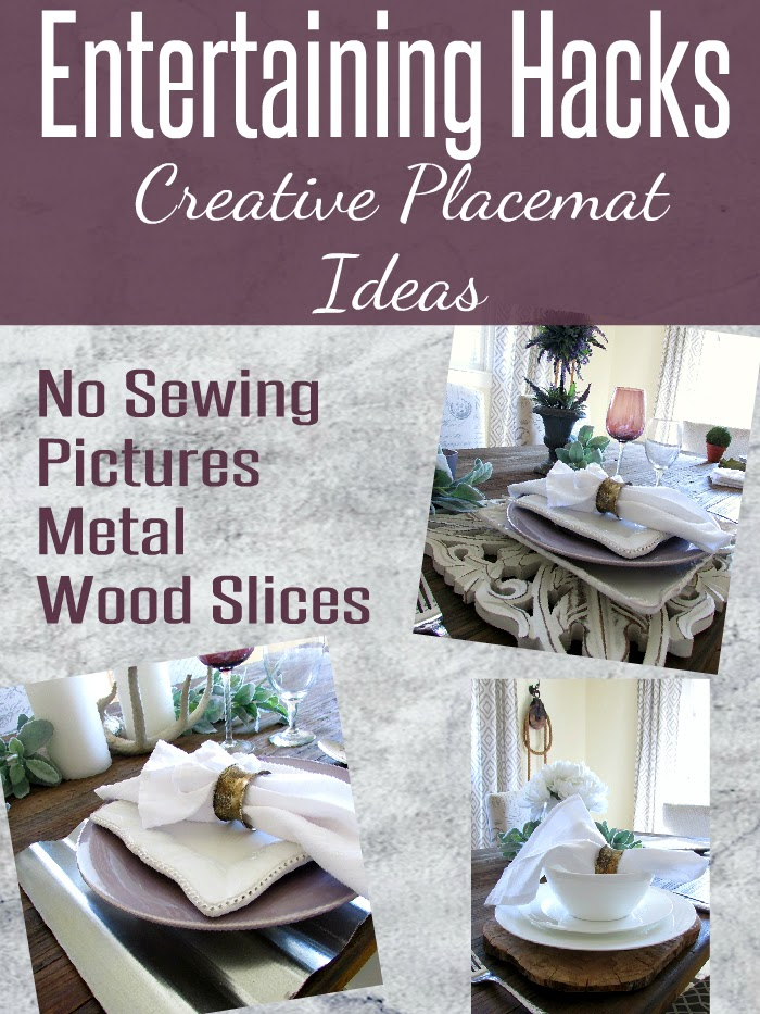 Entertaining Hacks with creative placemat ideas - Rustic & Refined