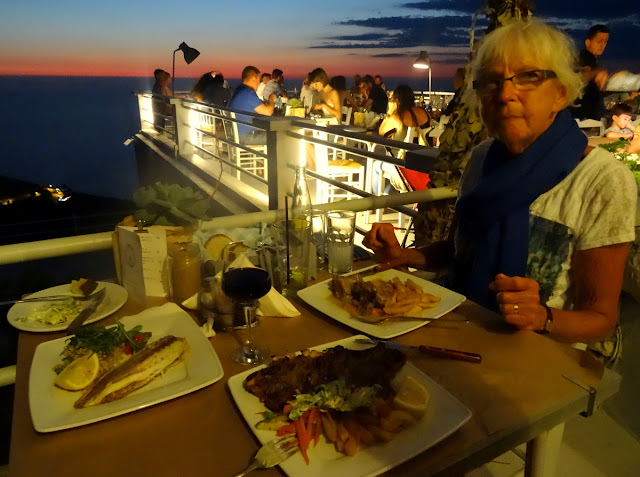 Dinner with a View at Rachi Taverna in Lefkada, Greece