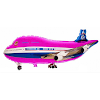 Balon Foil Karakter Pesawat Terbang