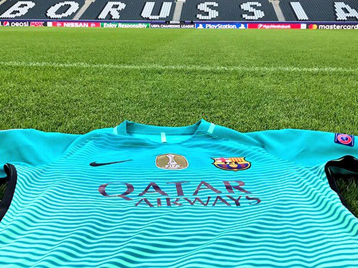 e832892481 On Pitch  Barcelona 16-17 Third Kit - Footy Headlines