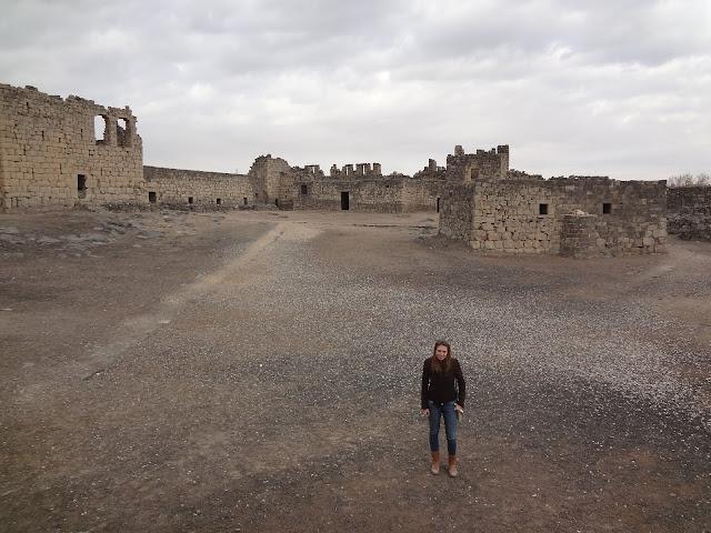 Patio del Qasr Al Azraq en Jordania
