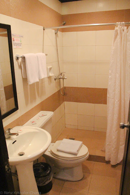 Bath room of O Hotel in Bacolod