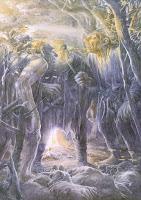 Los trolls capturan a Bilbo y los enanos