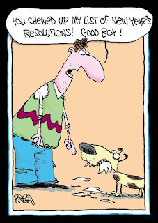 New Year Resolution Diet Joke Cartoon