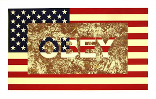 bandiera USA obey