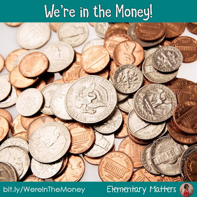 We're in the money! Counting money is all about skip counting. Here's a little trick to help them remember counting quarters!