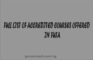 courses offered in FUTA