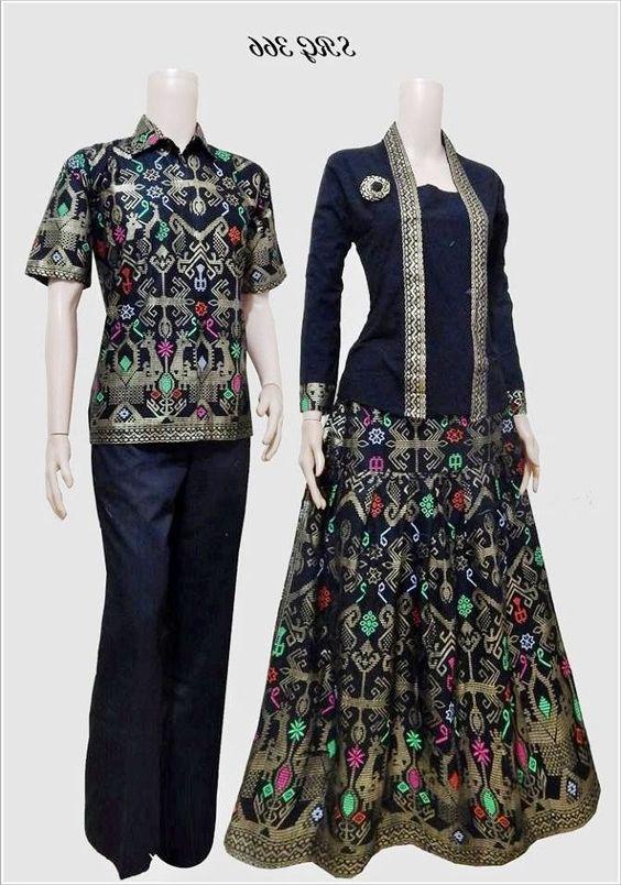 Contoh Model Baju Batik Untuk Pesta Pernikahan Terbaru Modern Dan