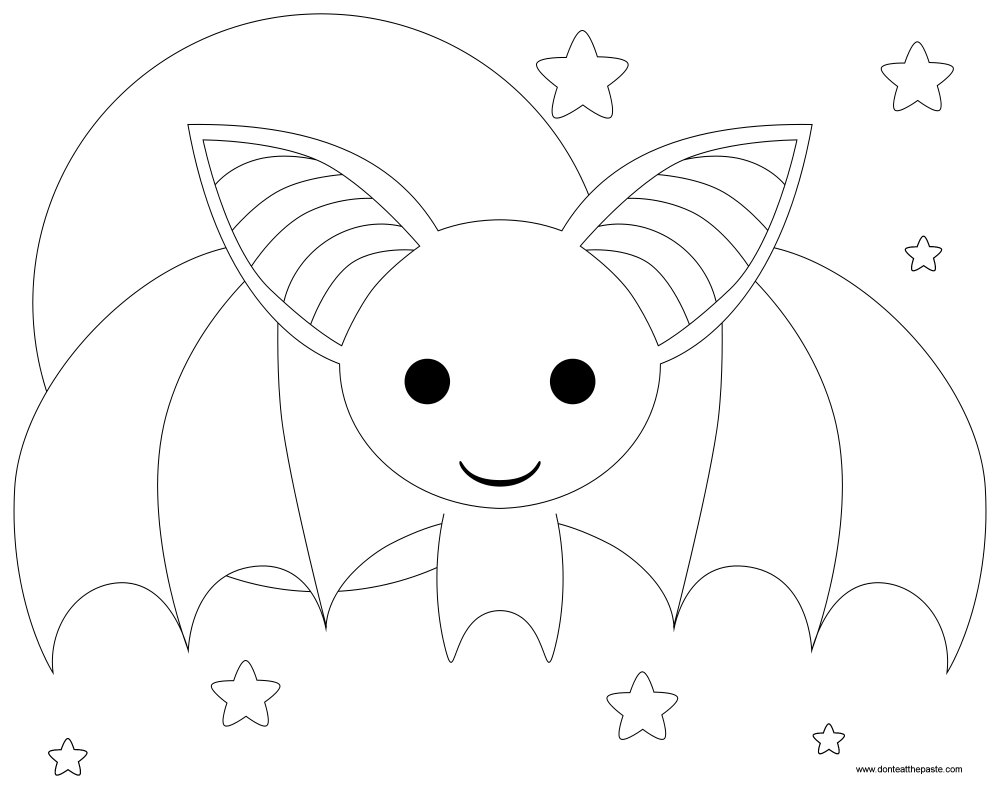 Don 39 t eat the paste bat appreciation day box and coloring for Bat printable coloring pages