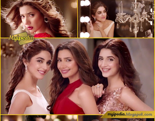 Maya Ali, Mahira Khan & Mawra Hocane in Lux Perfumed Collection TVC 2017