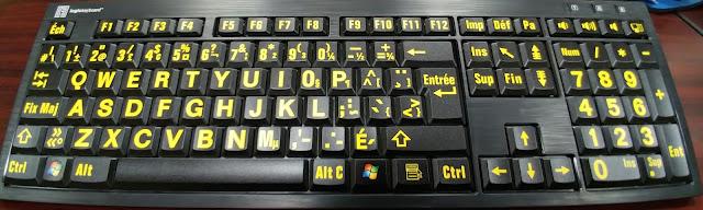 Large Print French Keyboard