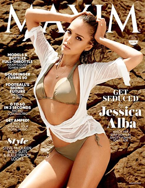 Jessica Alba Maxim Cover 467 - Jessica Alba Hot Bikini Images-60 Most Sexiest HD Photos of Fantastic Four fame Seduces Us Atmost