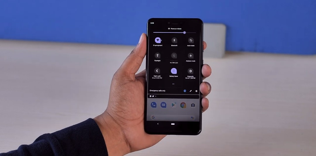 Android Q new dark mode feature