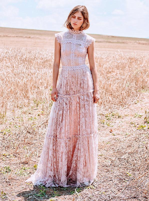 pastel lace dress