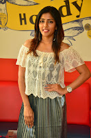 Eesha in a cute deep neck top and Skirt at at Big FM 084.JPG