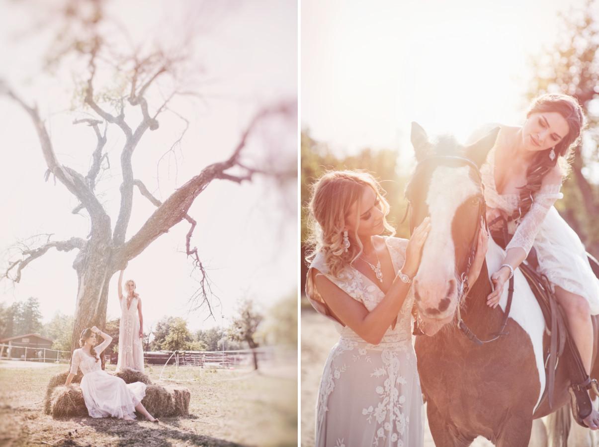 Pomysł na letnią sesję ślubną na wsi.