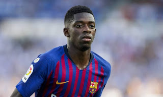 Late Dembele goal secure Barca 1-1 draw in