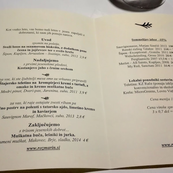 Na tednu restavracij: Rožmarin