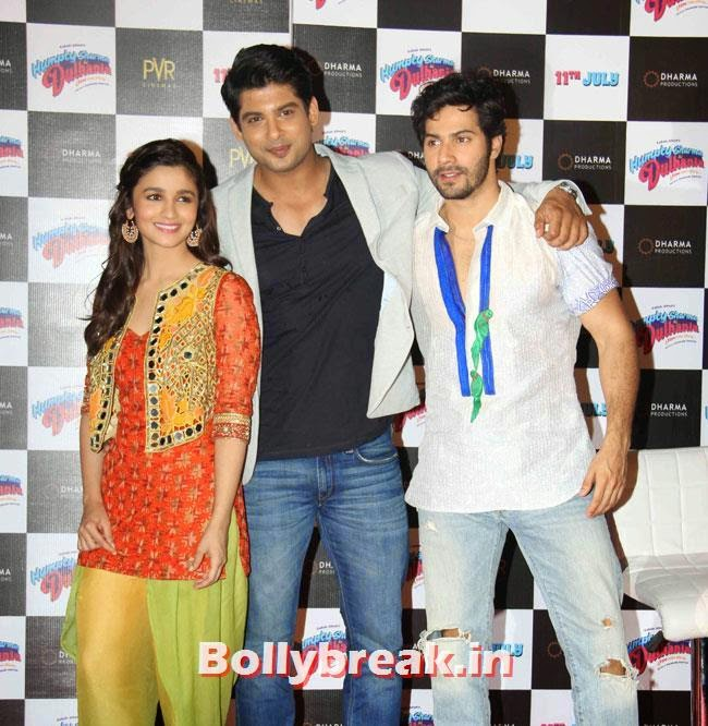 Alia Bhatt, Siddharth Shukla and Varun Dhawan, Alia & Varun Sizzle at Humpty Sharma Ki Dulhania First Look Launch