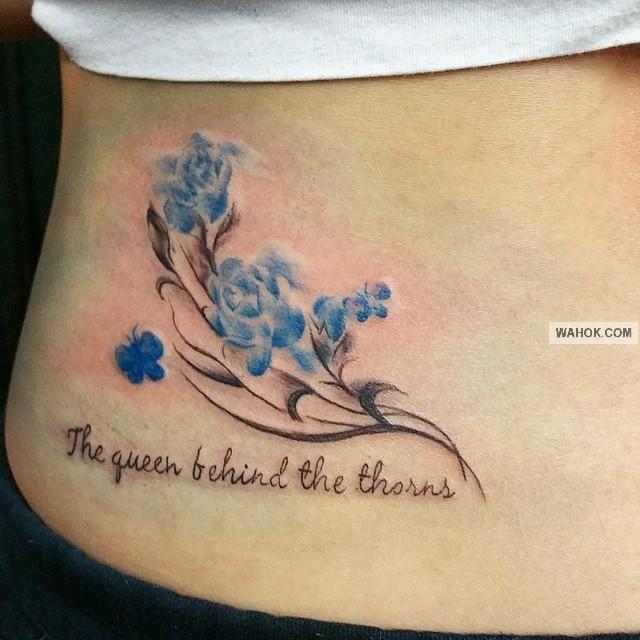 Gambar Tatto Cute To Cewek Di Bagian Rusuk Dan Pinggang