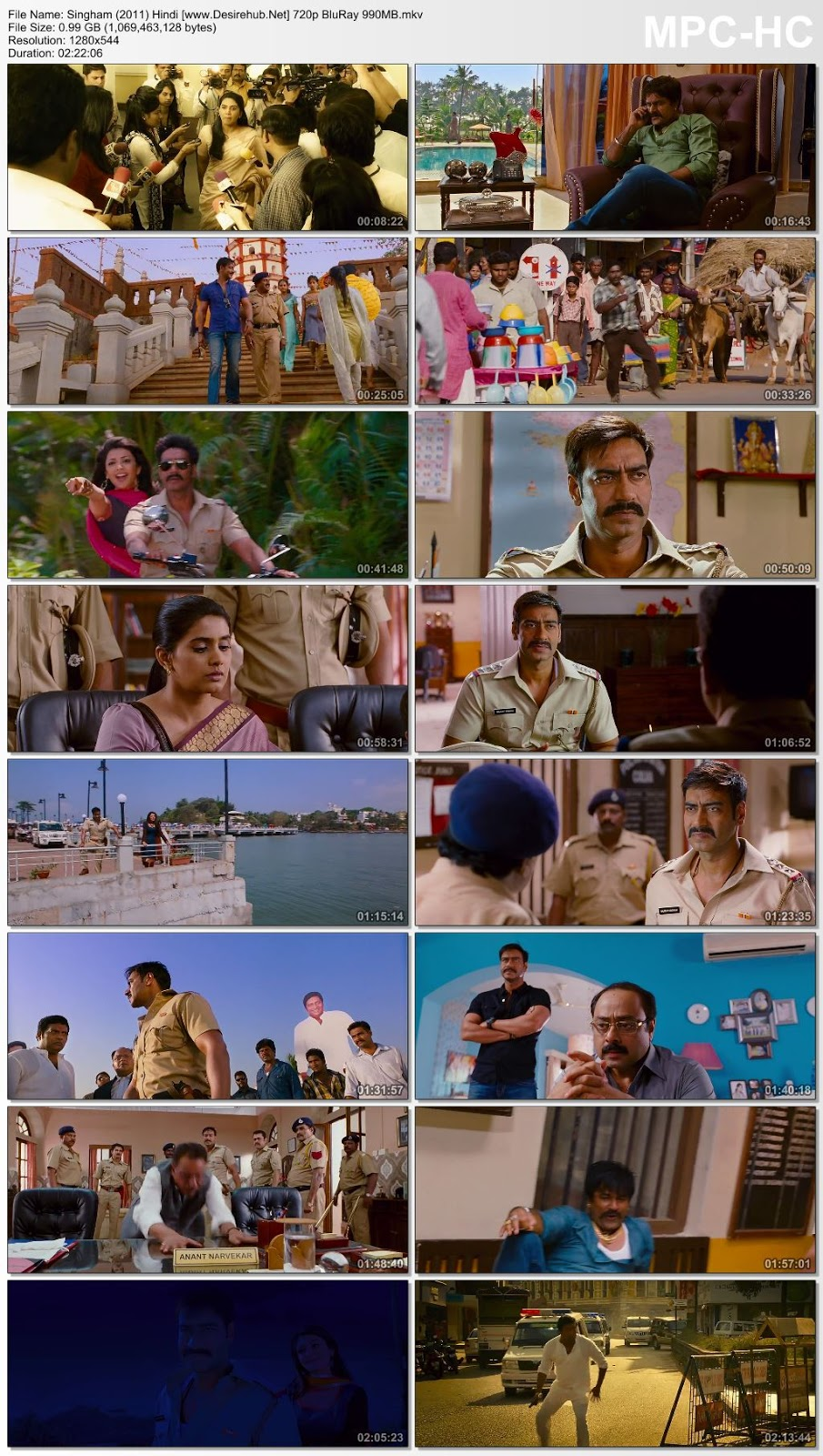 Singham (2011) Hindi 720p BluRay 990MB Desirehub