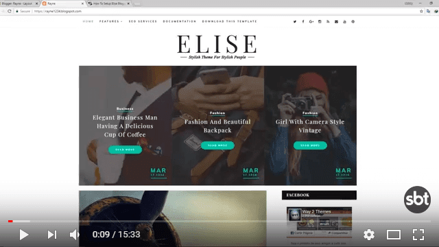 How To Setup Elise Blogger Template [Way2Themes] - Sora Blogging Tips