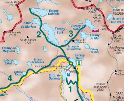 Mapa de la Vall Fosca