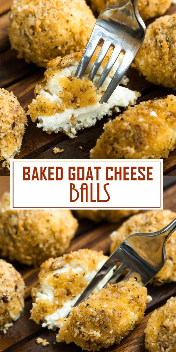 BAKED GOAT CHEESE BALLS #Appatizerrecipes