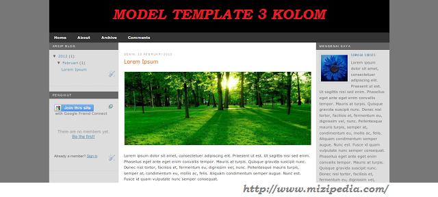 Kerangka Template Blog Responsive 2 dan 3 kolom
