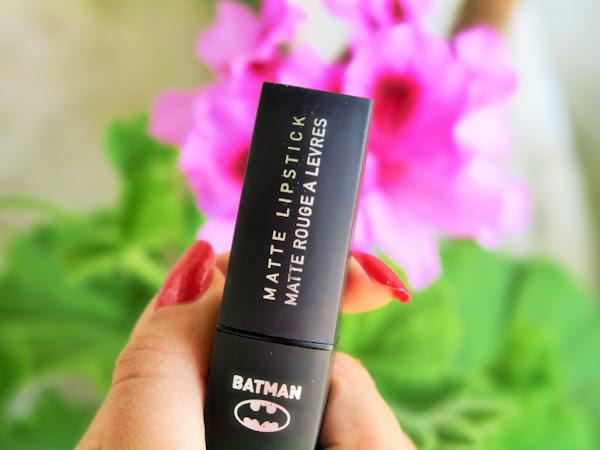 Review - Lipstick Batman Primark Roxo Matt
