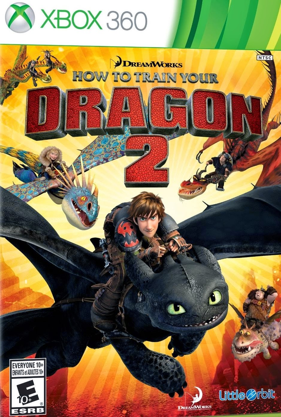 Cover Caratula How to Train Your Dragon 2 XBOX 360 ESPAÑOL Descargar