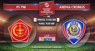 PS TNI Tumbangkan Arema Cronus 2-1 TSC Minggu 31 Juli 2016