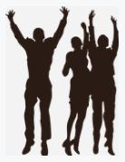 Gambar Tiga Orang saling Unjuk Tinggi Badan