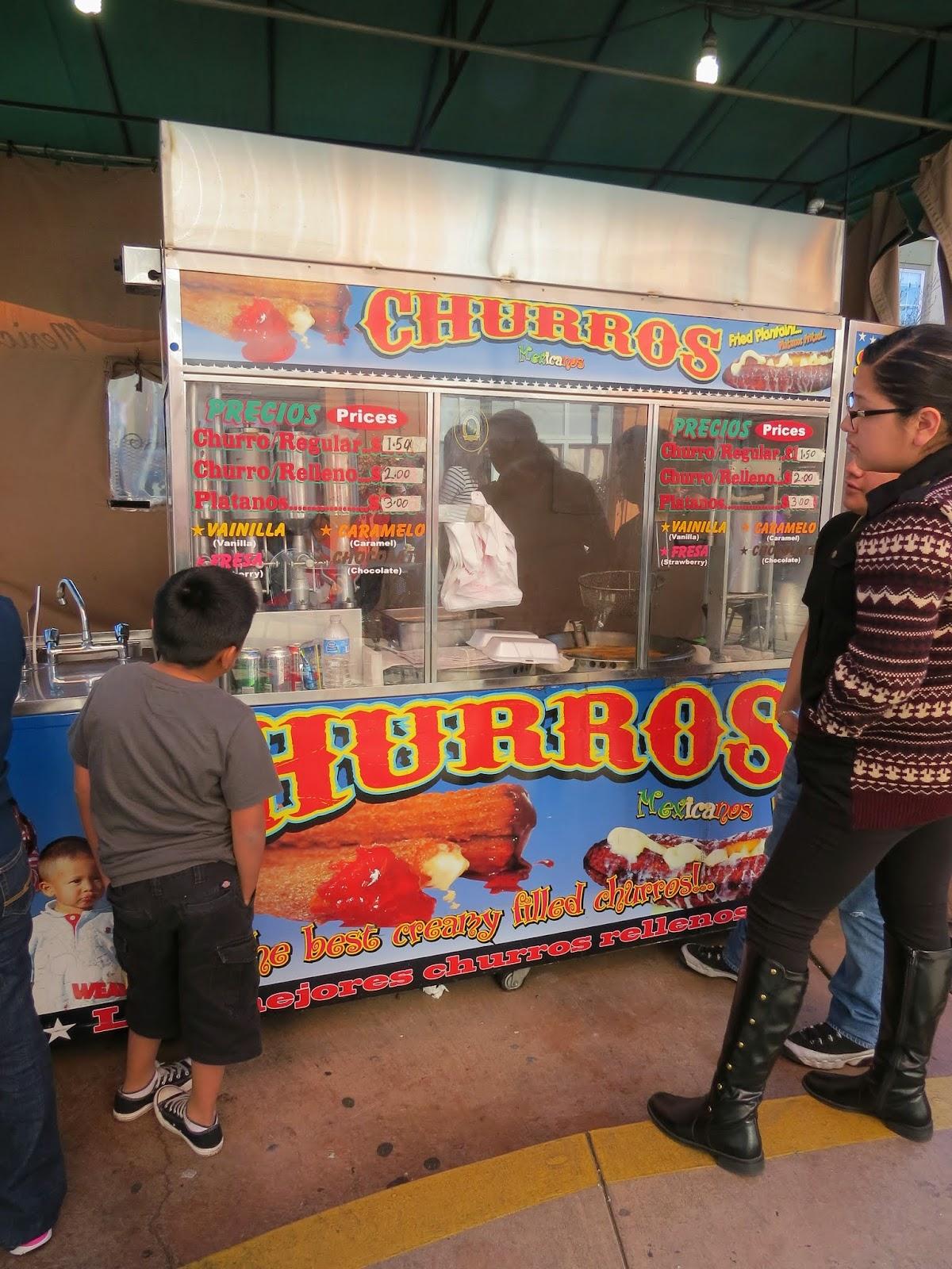 Churro truck at Fruitvale Public Market