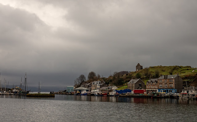 Photo of the fishing dock at Tarbert Harbour in Aryll