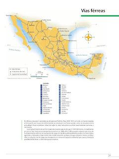 Apoyo Primaria Atlas de México 4to Grado Bloque III LeccióN 2 Vías férreas