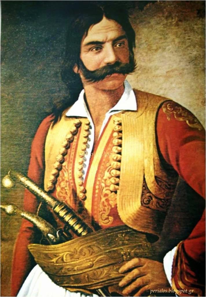 Ο Κυριακούλης Μαυρομιχάλης συνέβαλλε στην μετατροπή της φήμης σε ευφυές στρατήγημα. Ελαιογραφία. Εθνικό Ιστορικό Μουσείο. ΦΩΤΟ: Περί Aλός perialos.blogspot.gr