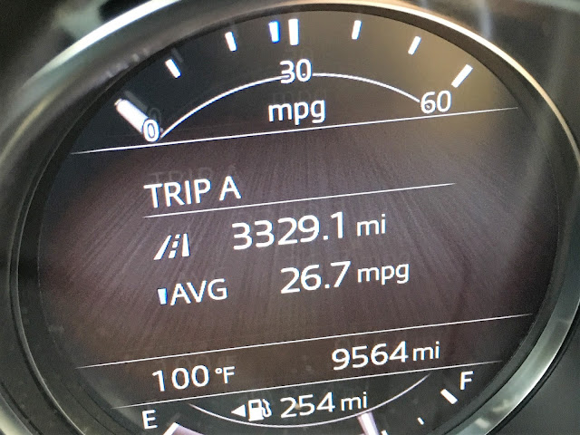Final trip miles and mileage on the 2017 Mazda CX-9 Grand Touring trip computer